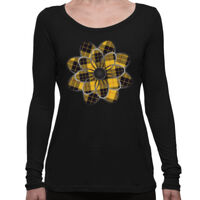 MacLeod of Lewis Tartan Flower - Long Sleeve Women's Tee Thumbnail